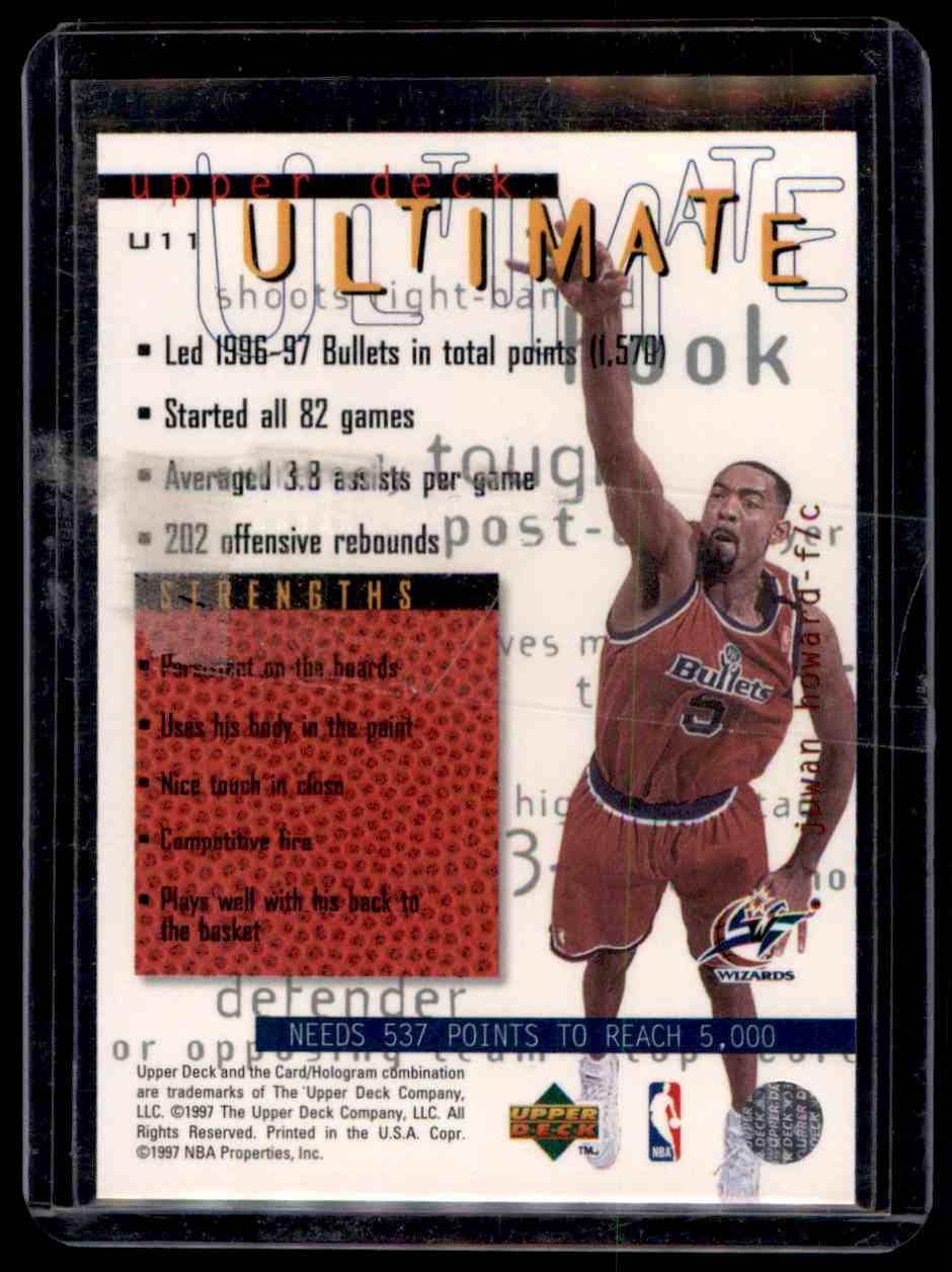 1997-98 Upper Deck Ultimates Juwan Howard #U11 card back image