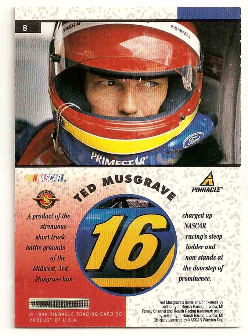 1998 Pinnacle Mint Ted Musgrave #8 card back image