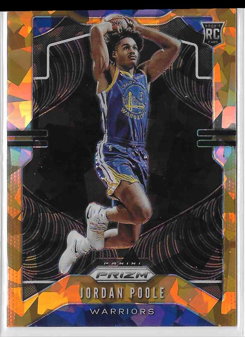 2019-20 Panini Prizm Orange Cracked Ice Prizm Jordan Poole #272 card front image