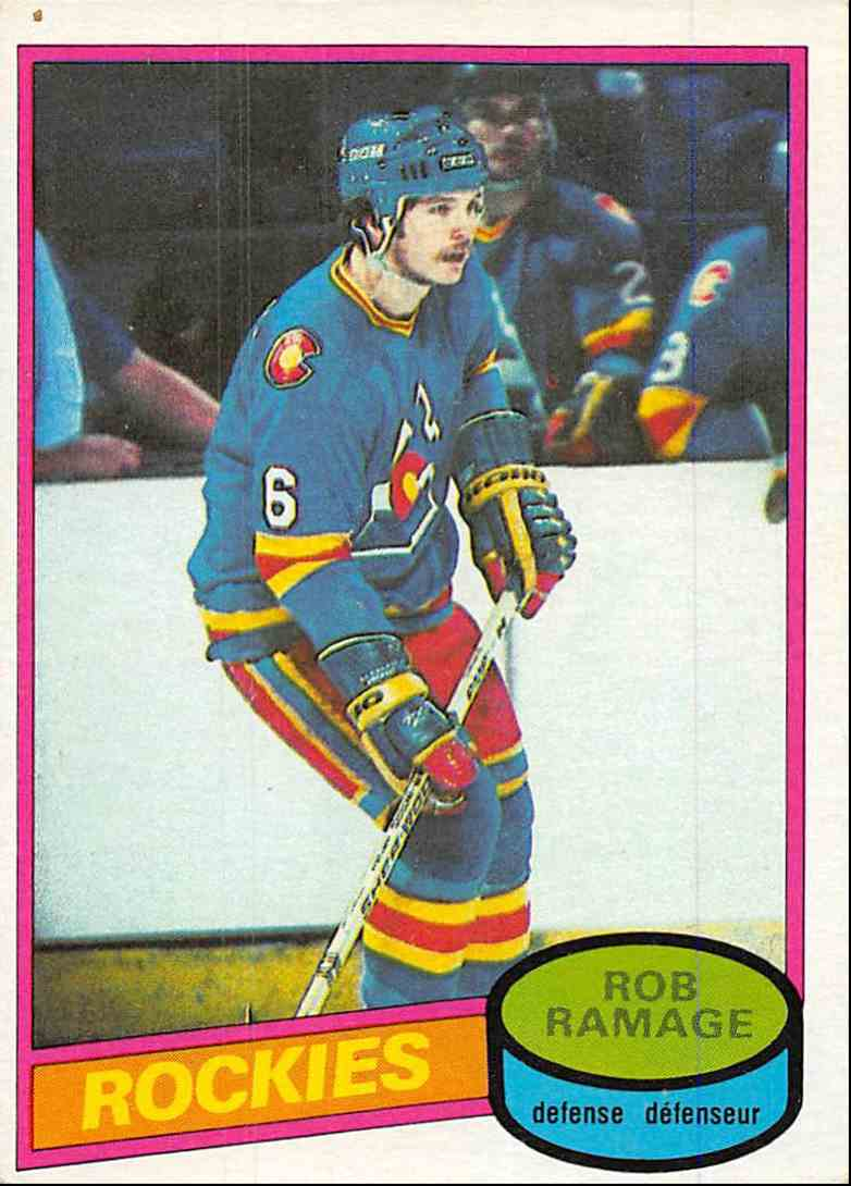 1980-81 O-Pee-Chee Rob Ramage #213 card front image