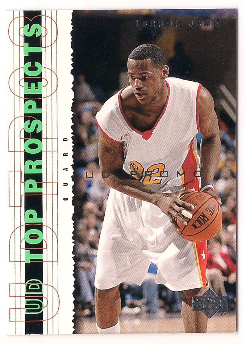 2003-04 Upper Deck Top Prospects Lebron James Promo Card #P3 card front image