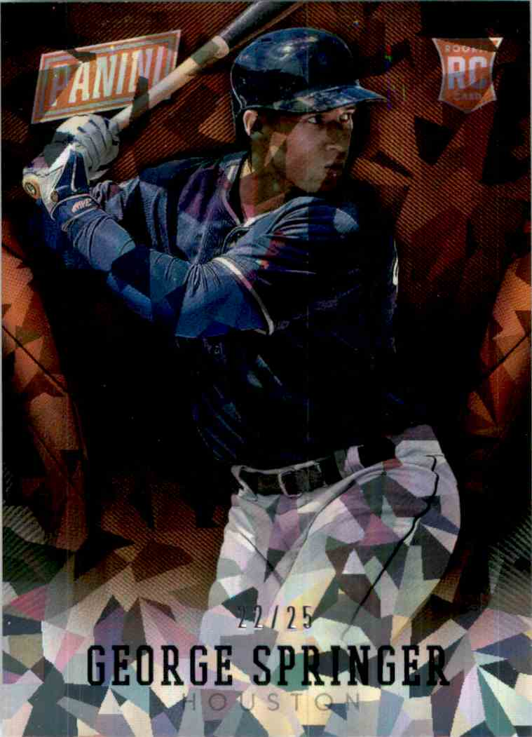 2014 Panini National Convention Cracked Ice George Springer Bb #26 card front image