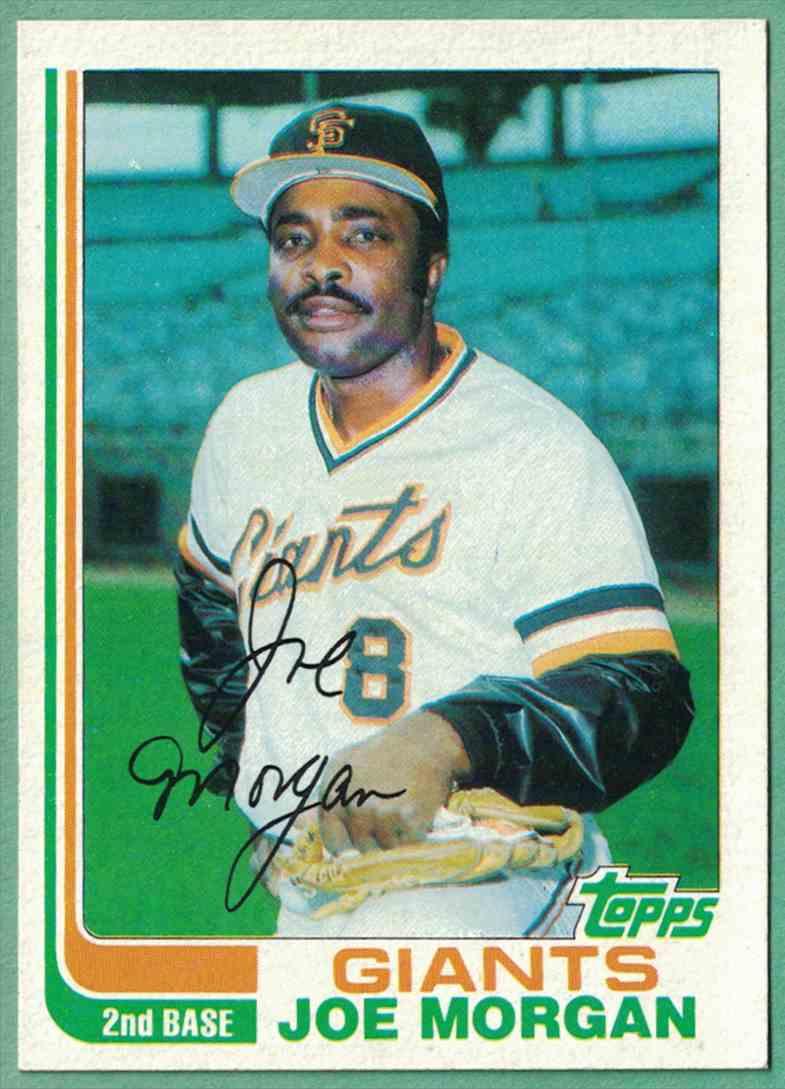 1982 Topps Joe Morgan NM-MT #754 card front image
