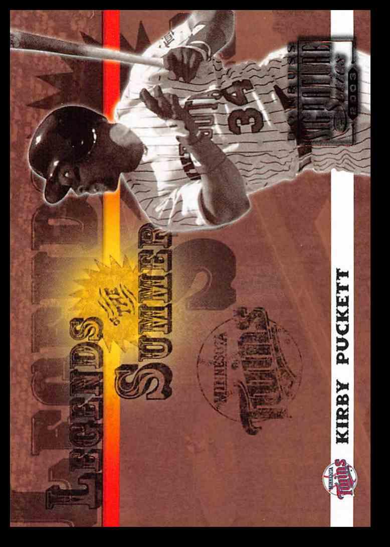 2003 Donruss Signature Legends Of Summer Kirby Puckett #26 card front image