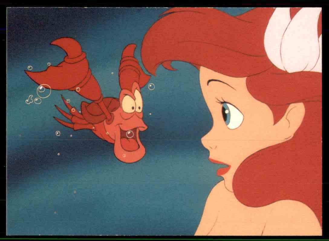 1991 Little Mermaid Sebastian Is Too Shocked #15 card front image