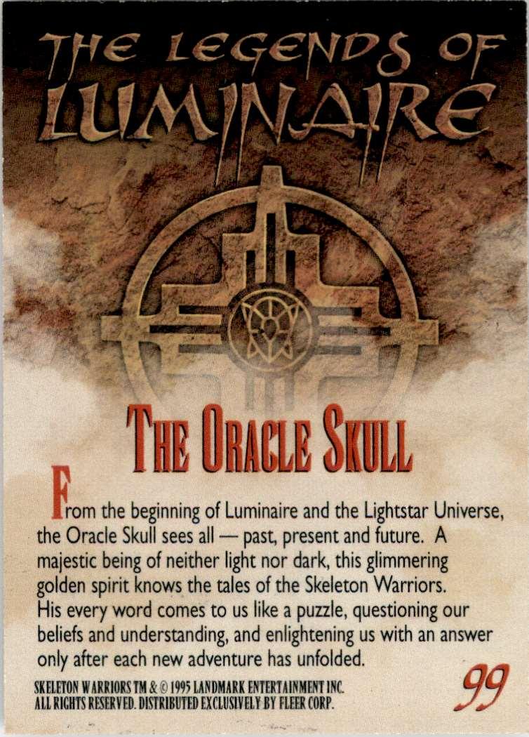 1995 Skeleton Warriors Ultra The Oracle Skull #99 card back image