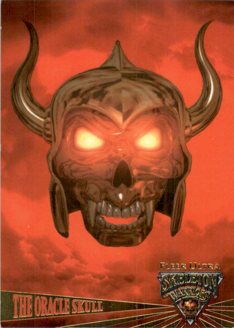 1995 Skeleton Warriors Ultra The Oracle Skull #99 card front image