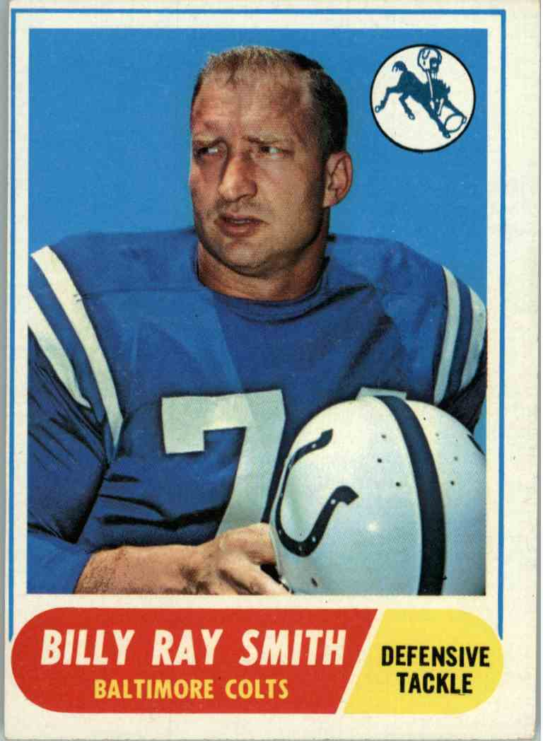 1968 Topps Billy Ray Smith #22 card front image