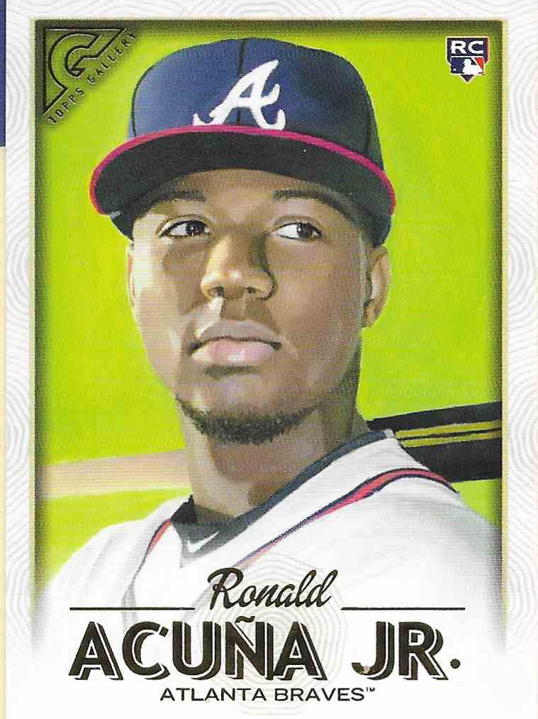 2018 Topps Gallery Ronald Acuna JR. ##140 card front image
