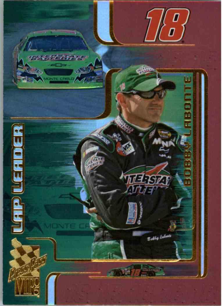 2005 Press Pass Vip Lap Leader Bobby Labonte #LL8 card front image