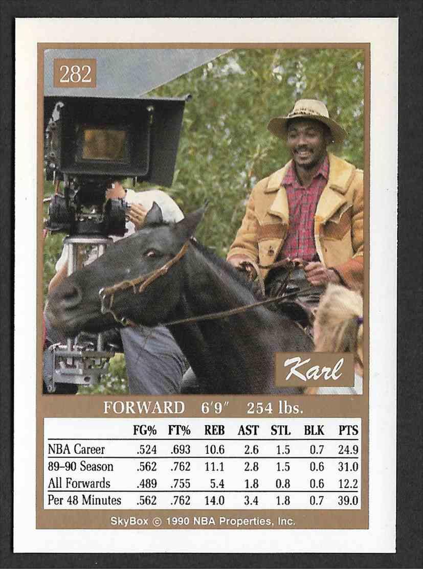 1990-91 Skybox Karl Malone #382 card back image