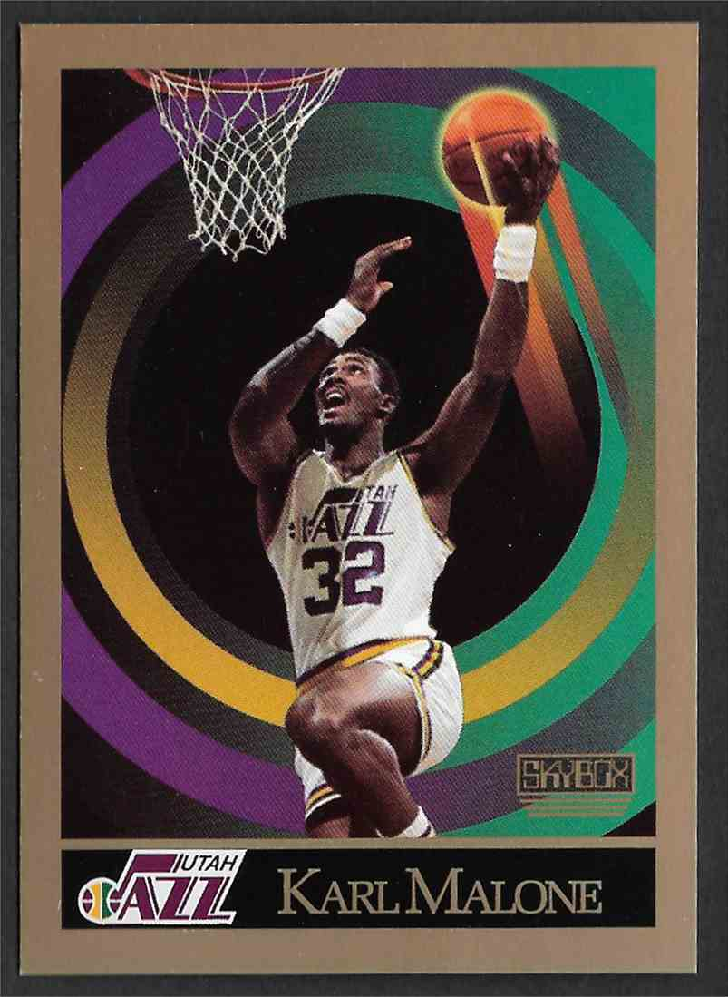 1990-91 Skybox Karl Malone #382 card front image
