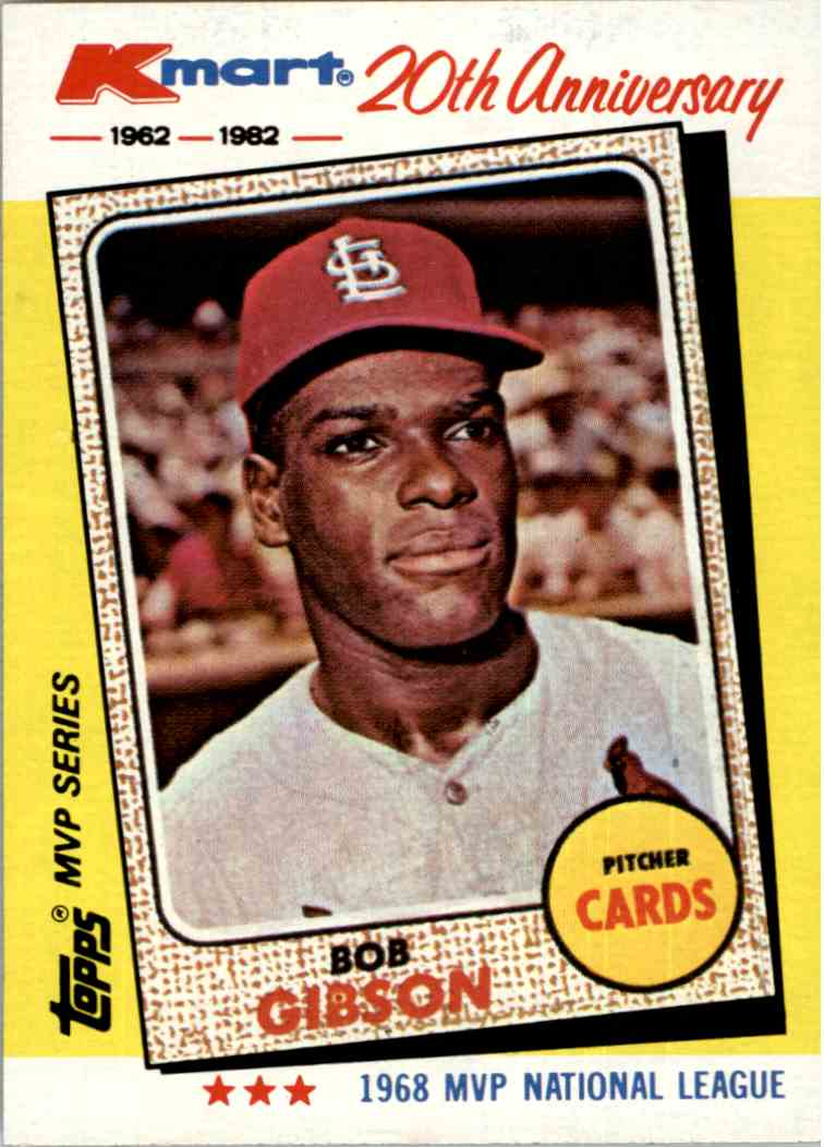 1982 Kmart 20th Anniversary Bob Gibson 14 On Kronozio