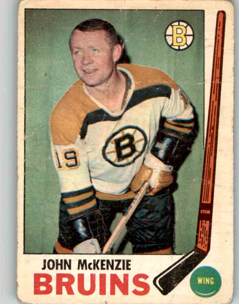 1969-70 O-Pee-Chee John McKenzie #28 card front image
