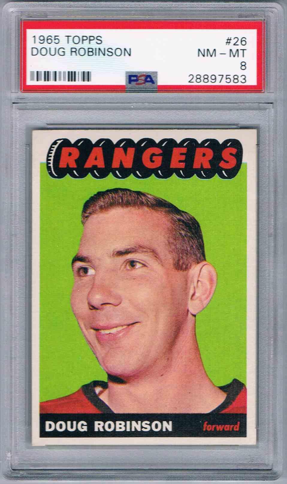 1965-66 Topps Doug Robinson #26 card front image