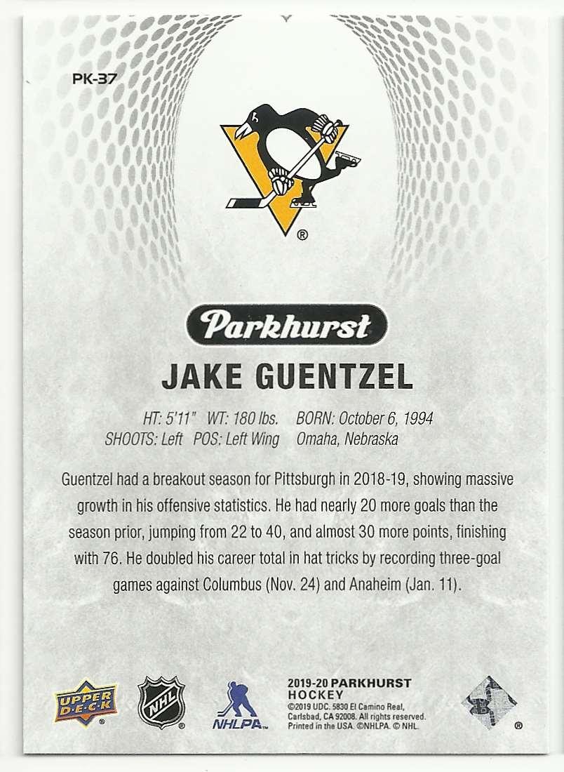 2019-20 Parkhurst Parkies Jake Guentzel #37 card back image