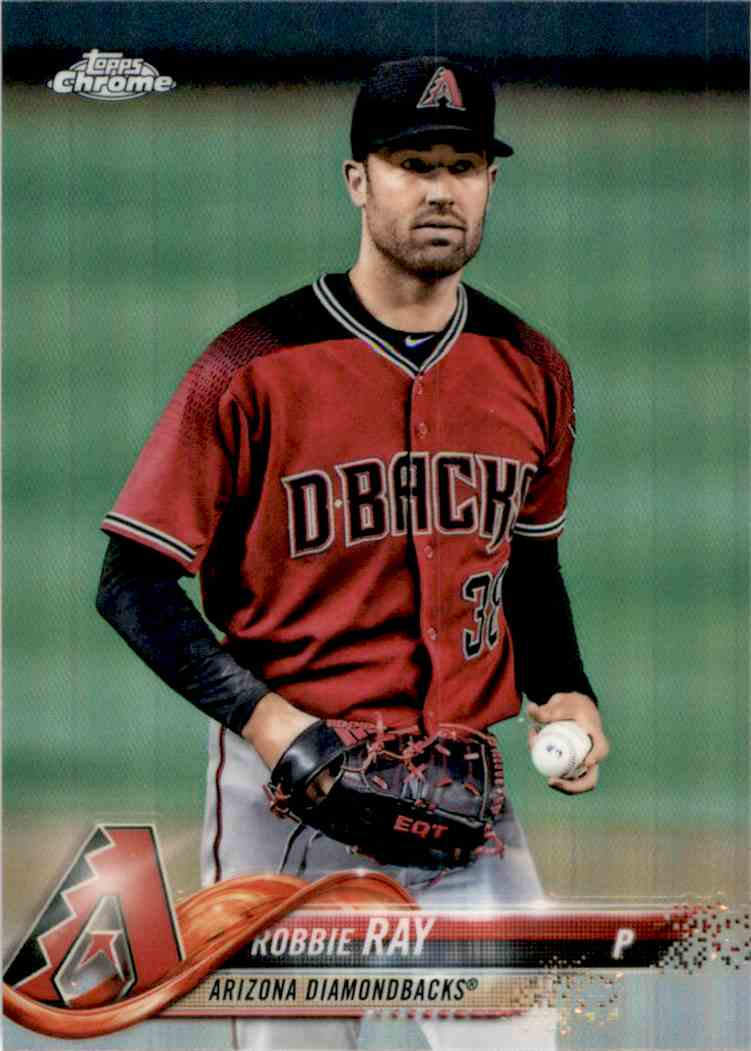 2018 Topps Chrome Refractors Robbie Ray #129 card front image