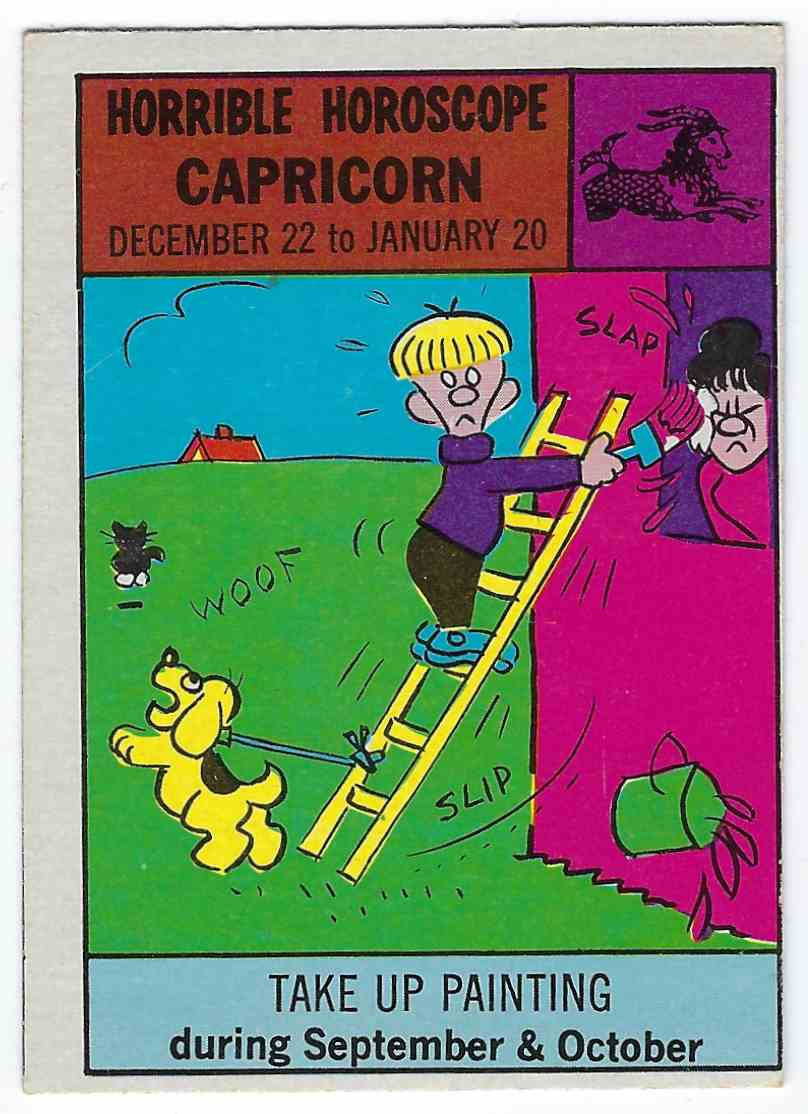 1972 Philly Gum Co. Horrible Horoscope Capricorn - Take Up Painting #23 card front image