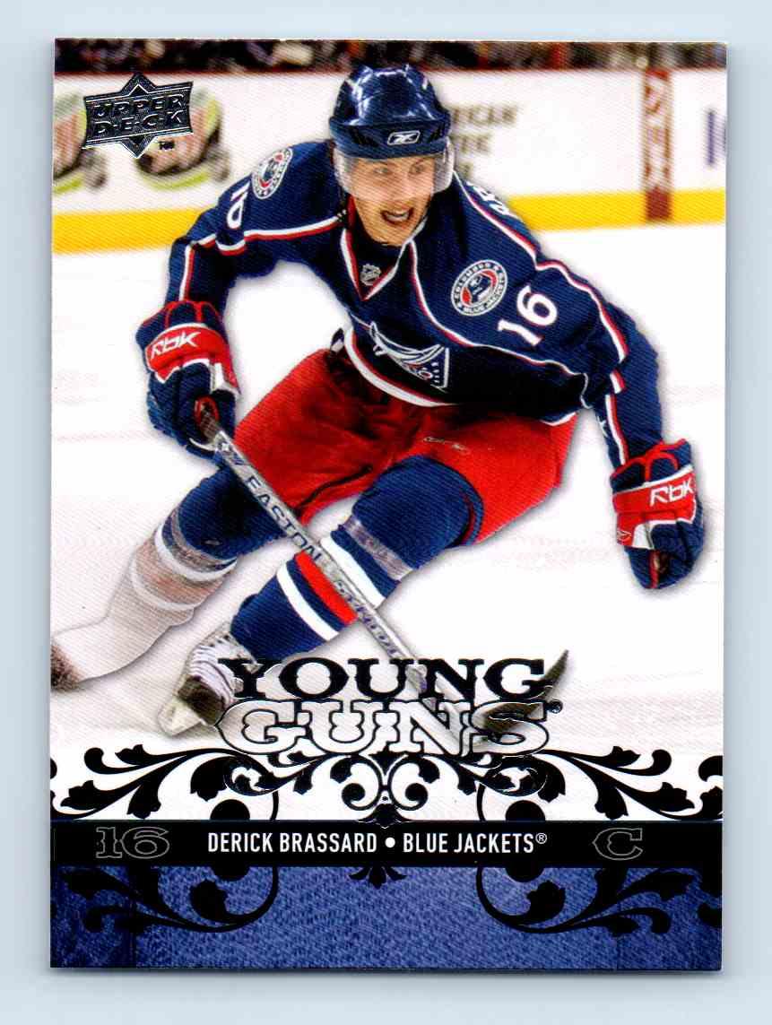2008-09 Upper Deck Young Guns Derick Brassard #207 card front image