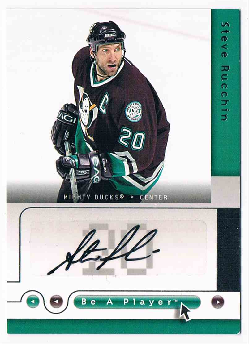 2005-06 Upper Deck Be A Player Signatures Steve Rucchin #SR card front image