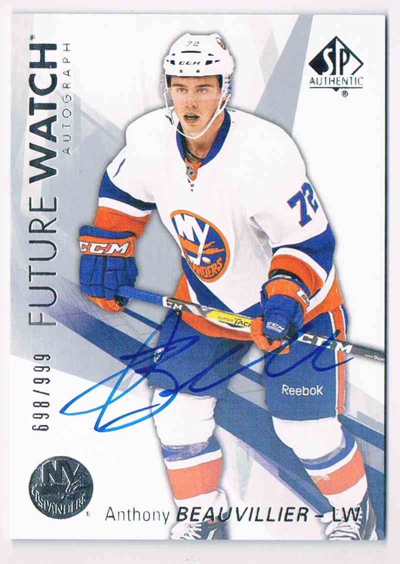 2016-17 Upper Deck SP Authentic Future Watch Anthony Beauvillier #159 card front image