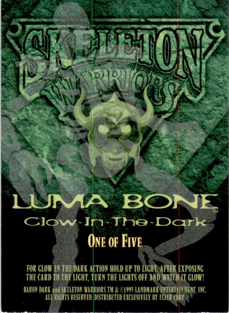 1995 Skeleton Warriors Ultra Luma Bone Baron Dark #1 card back image