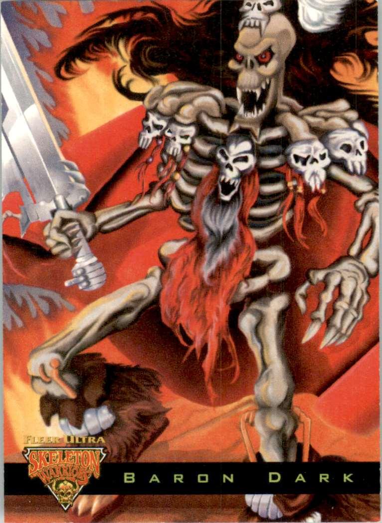 1995 Skeleton Warriors Ultra Luma Bone Baron Dark #1 card front image