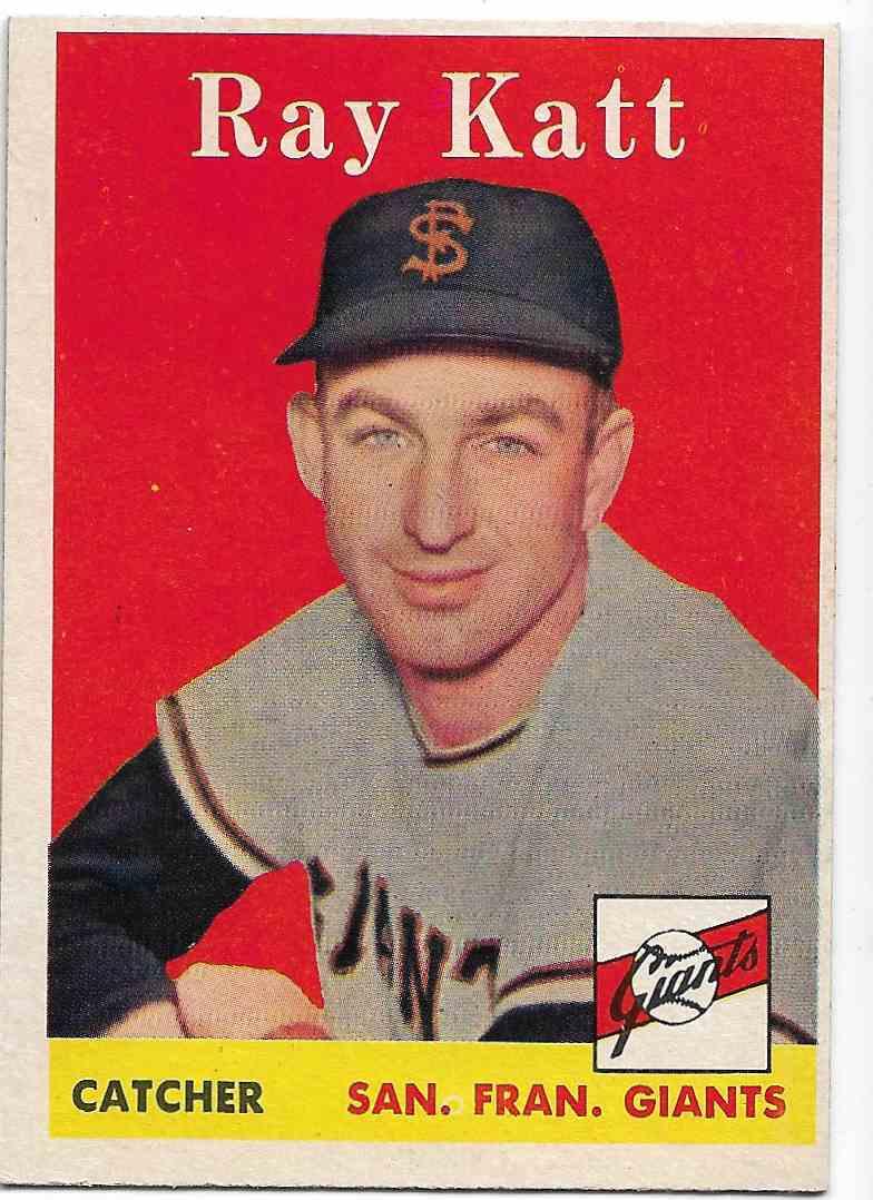 1958 Topps Ray Katt #284 card front image