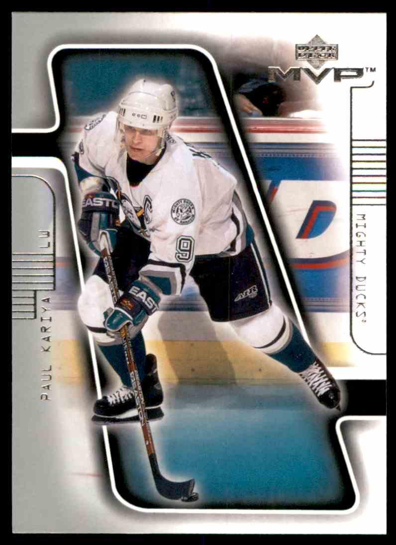 2001-02 Upper Deck MVP Paul Kariya #2 card front image