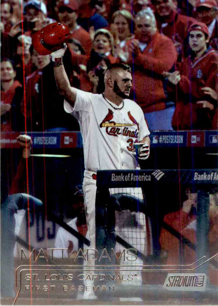 2015 Topps Stadium Club Foilboard Matt Adams #63 card front image