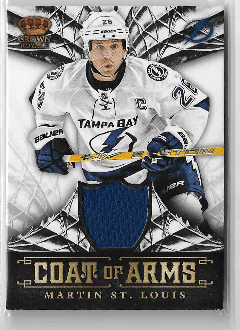 2013-14 Panini Crown Royale Coat Of Arms Materials Martin St. Louis #CA-MSL card front image