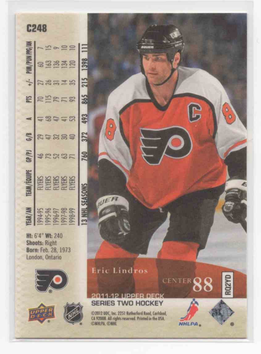 2011-12 Upper Deck Canvas Retired Stars Eric Lindros #C248 card back image