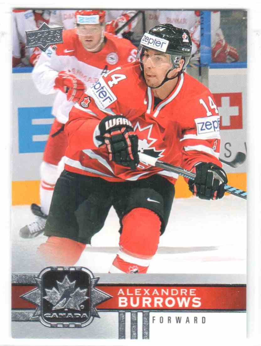 2017-18 Upper Deck Team Canada Canadian Tire Alexandre Burrows #66 card front image