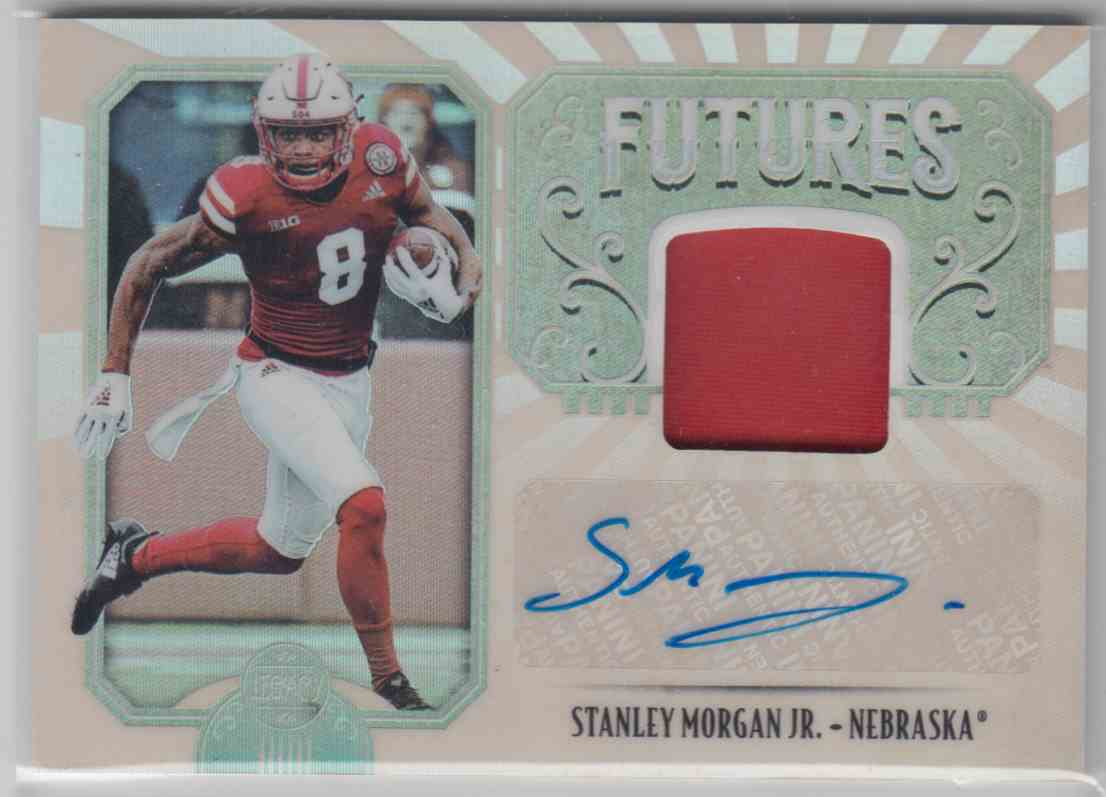 2019 Panini Legacy Futures Patch Autographs Stanley Morgan JR. #FP-SM card front image