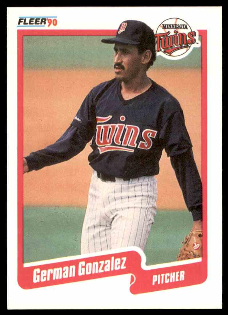 1990 fleer baseball german gonzalez 376 on kronozio 1990 fleer baseball german gonzalez 376 card front image sciox Images