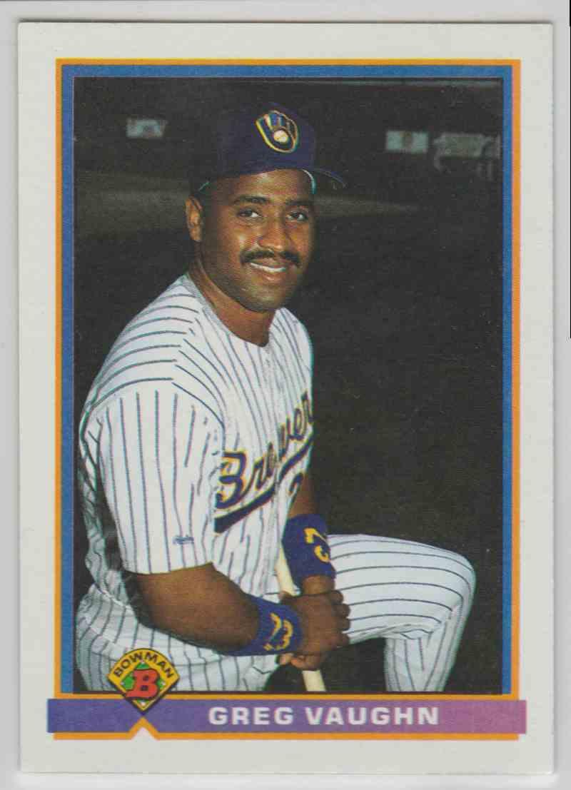 1991 Bowman Base Greg Vaughn #33 card front image