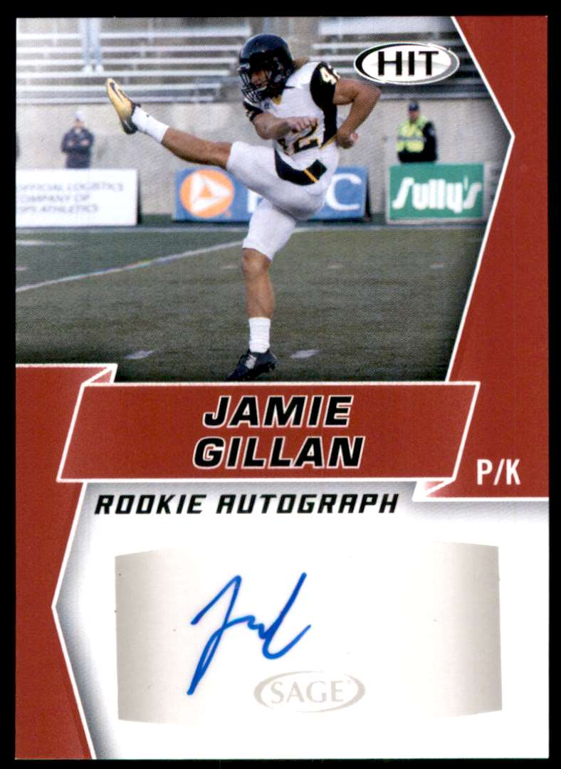 2019 Sage Hit Autographs Red Jaime Gillan #A101 card front image