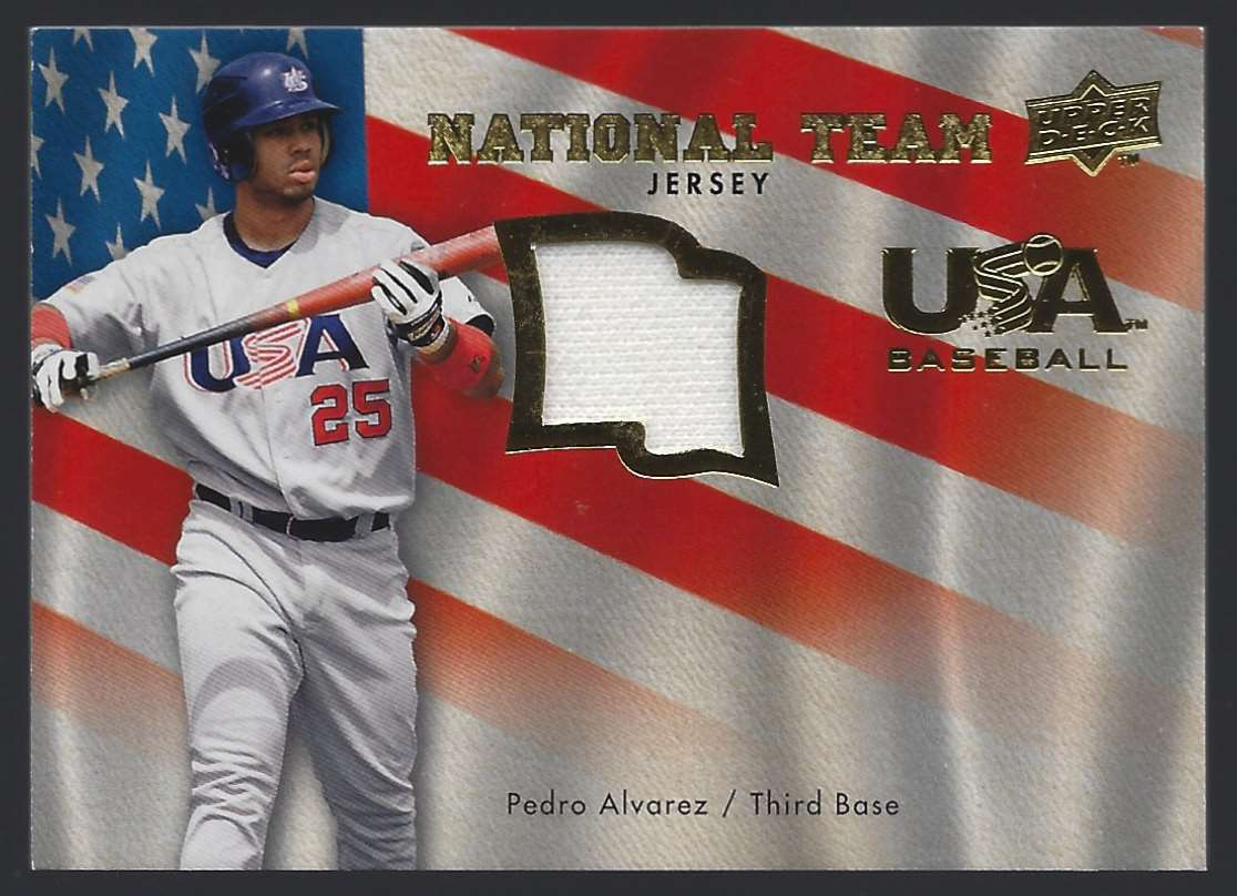 2008 Upper Deck USA National Team Jerseys Pedro Alvarez #USAPA card front image