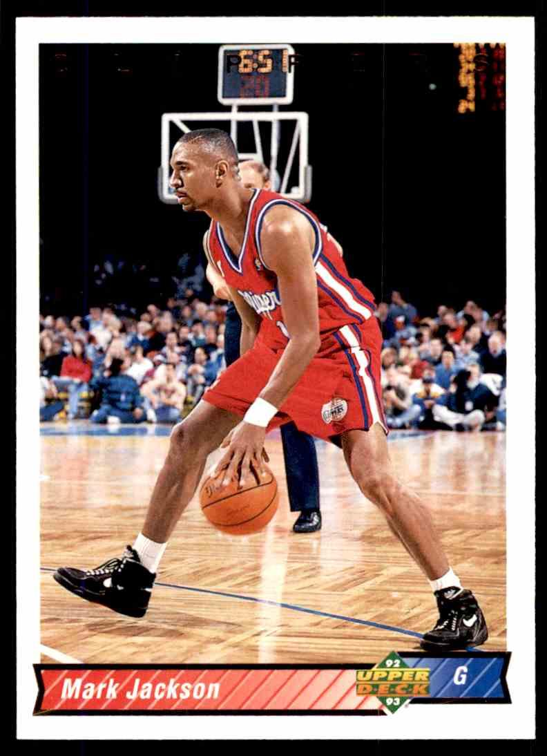 1992-93 Upper Deck Mark Jackson #341 card front image