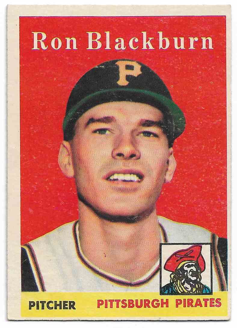 1958 Topps Ron Blackburn #459 card front image