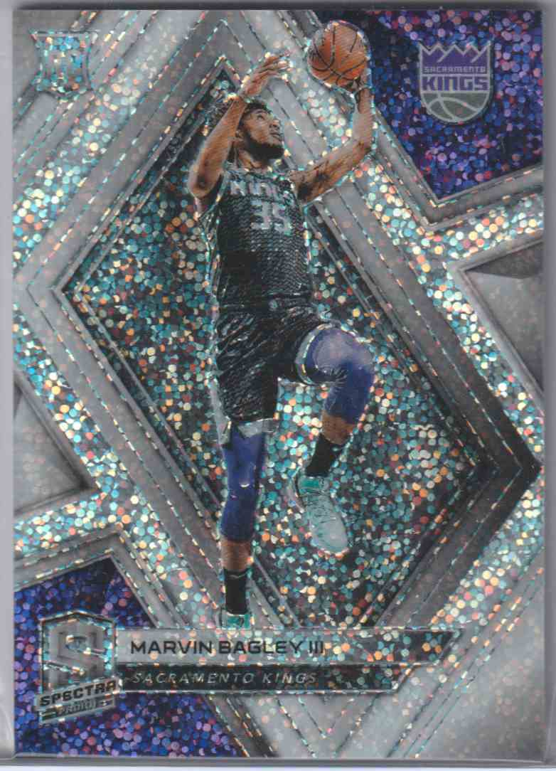 2018-19 Panini Spectra White Sparkle Marvin Bagley III #46 card front image