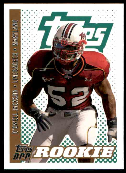 2006 Topps Draft Picks And Prospects D'Qwell Jackson RC #161 card front image