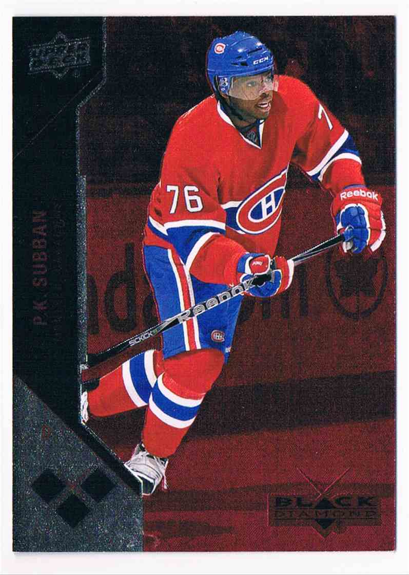2011-12 Upper Deck Black Diamond Ruby P.K. Subban #166 card front image