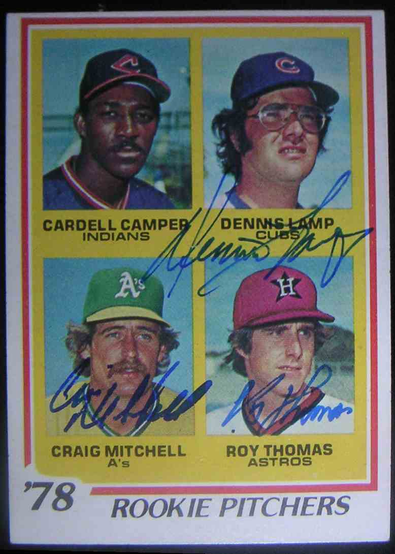 1978 Topps 1978 Rookie Pitchers Cardell Camper Dennis