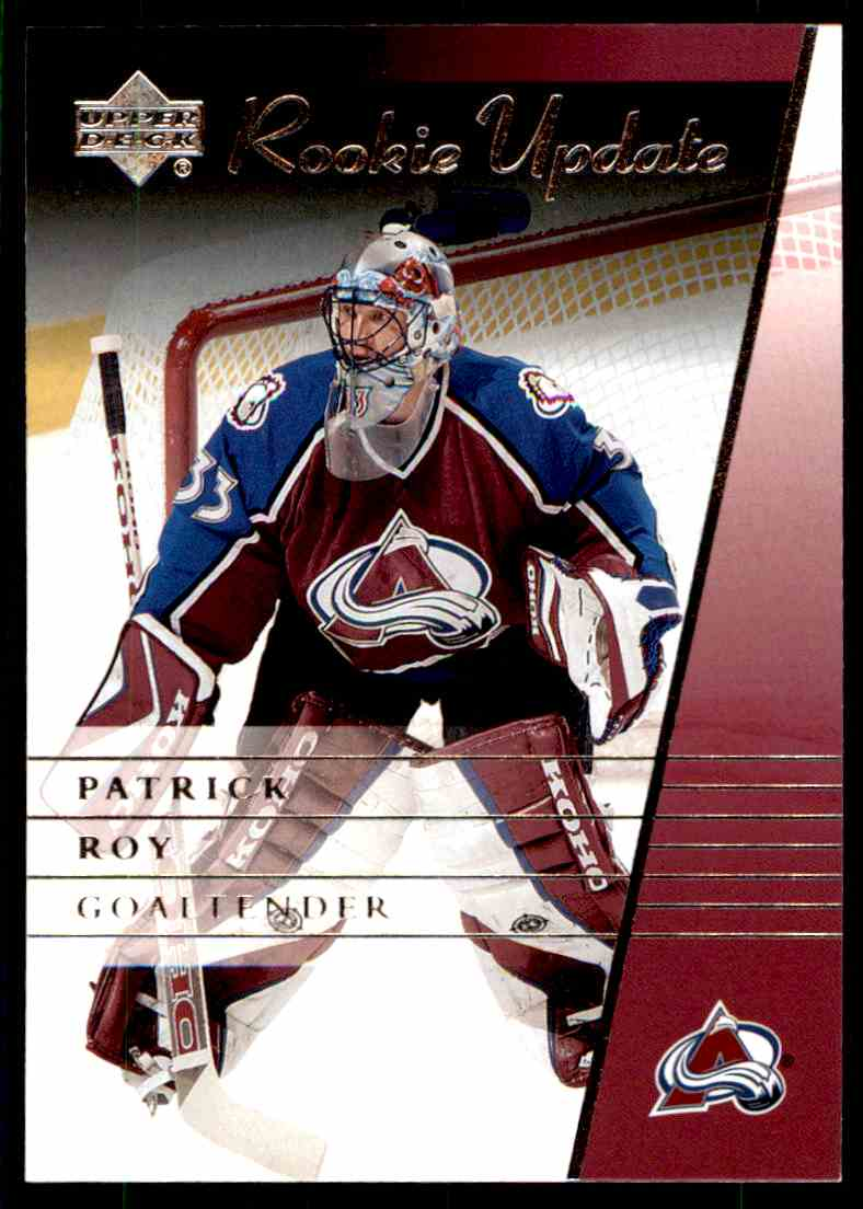 2002-03 Upper Deck Rookie Update Patrick Roy #27 card front image