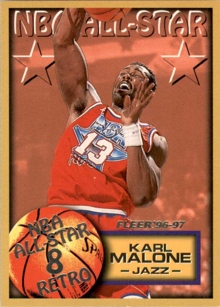1996-97 Fleer Karl Malone As #284 card front image
