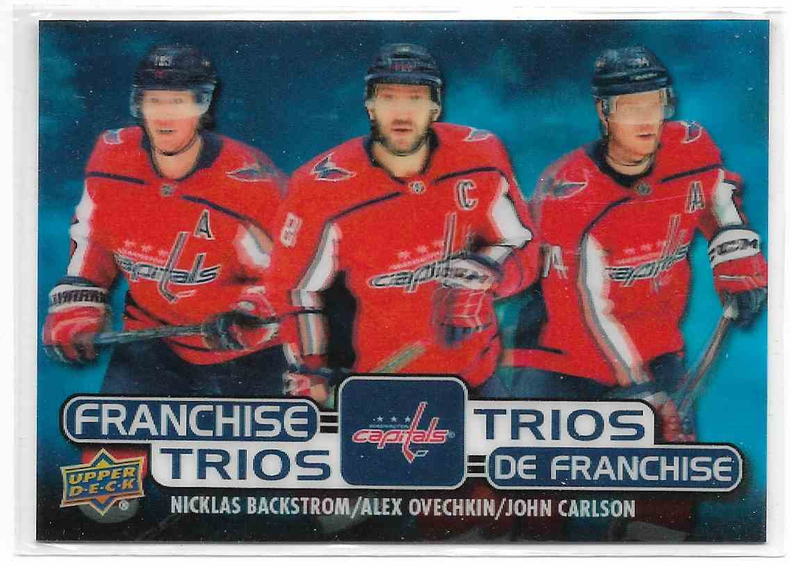 2021-22 Upeer Deck Tim Horton Backstrom/Ovechkin/Carlson #T-7 card front image