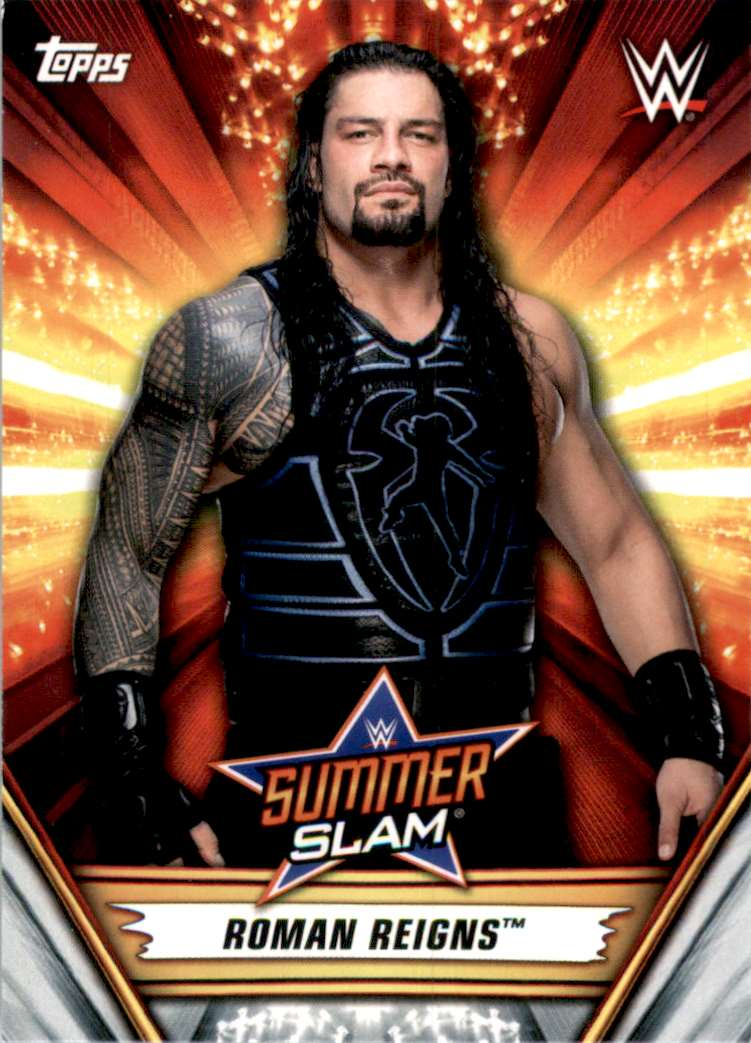 2019 Topps Wwe SummerSlam Roman Reigns #14 card front image