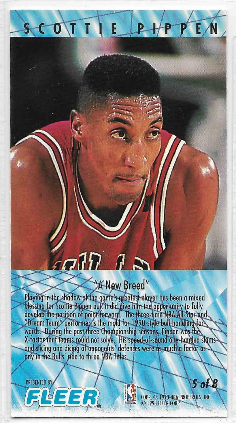 1993-94 Fleer NBA Jam Session Scottie Pippen #5 card back image