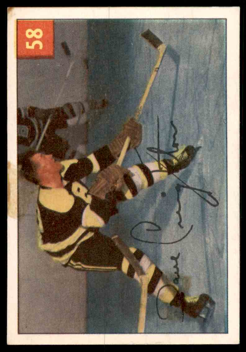 1954 Parkhurst Hockey #57 Doug Mohns Rookie Card RC card front image
